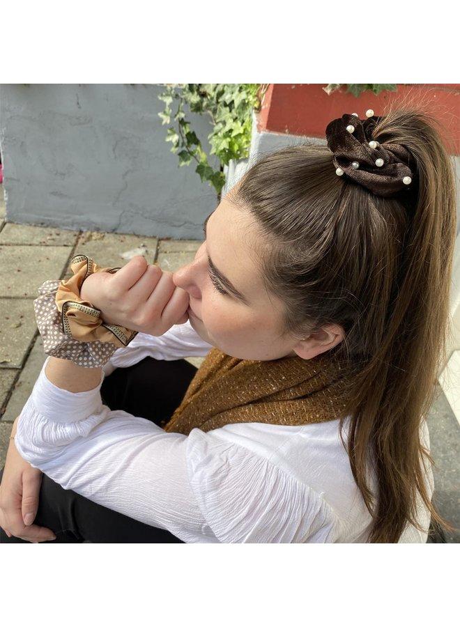 Jozemiek Scrunchie Pearl brown