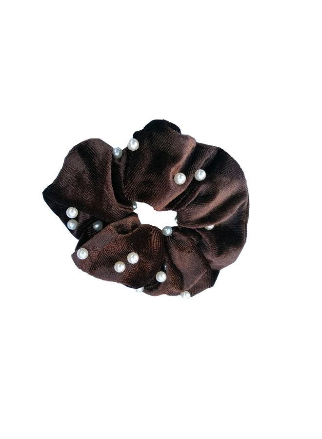 Scrunchie Pearl brown