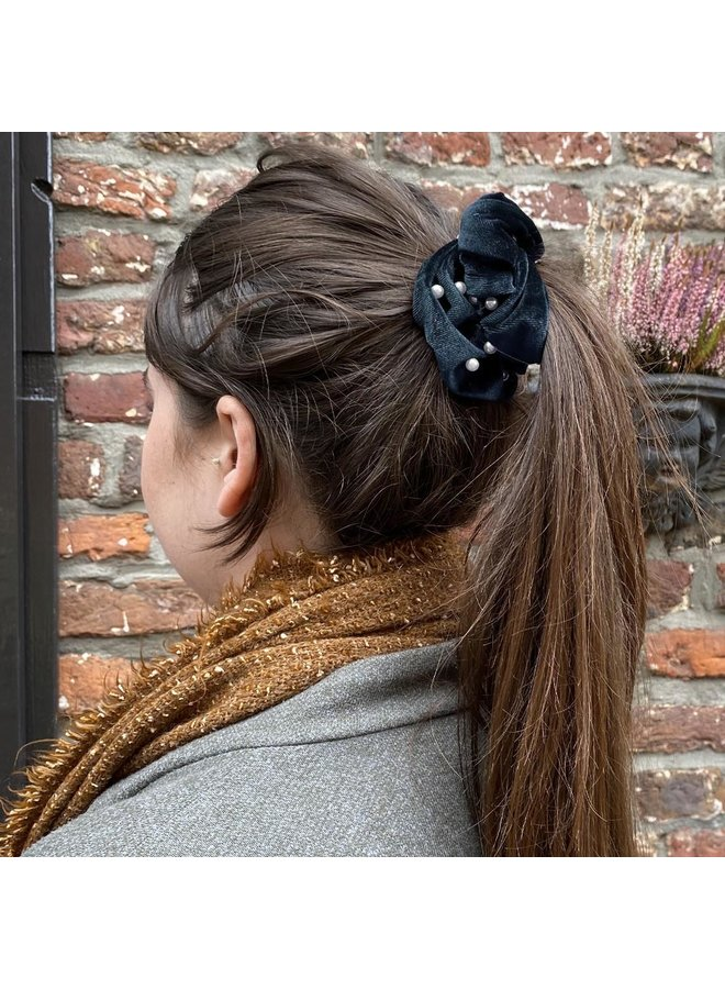 Jozemiek Scrunchie Pearl blue / gray