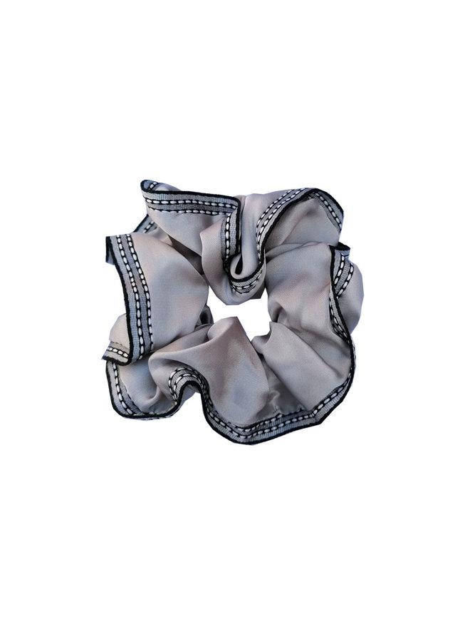 Scrunchie Ribbon Grey