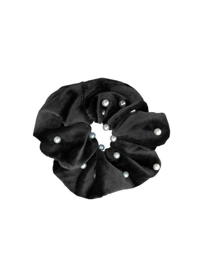 Scrunchie Parel zwart