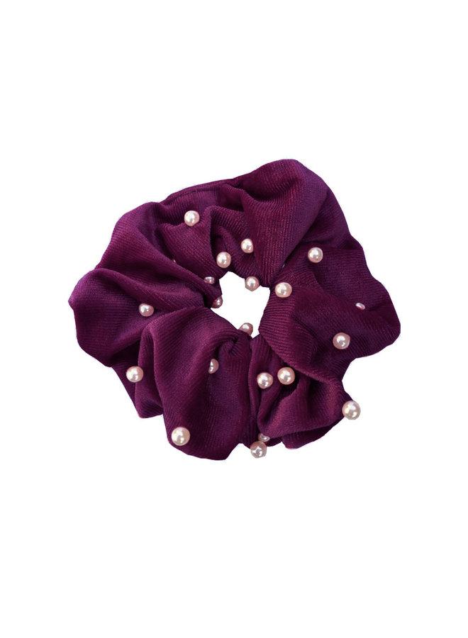 Scrunchie Pearl burgundy