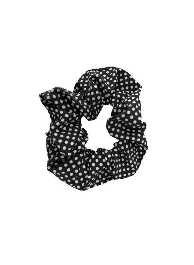 Scrunchie Stippen zwart