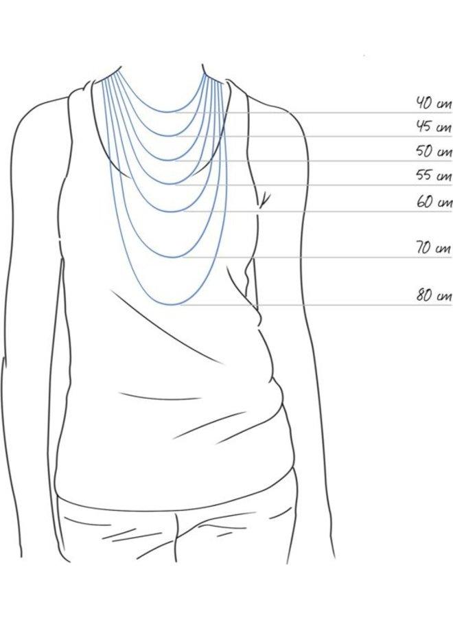 Jozemiek Halskette mit Buchstabe H Edelstahl, Silber