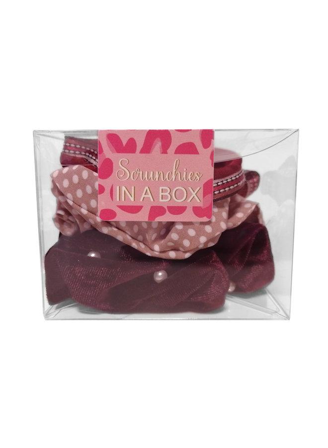 Scrunchie in a BOX burgundy