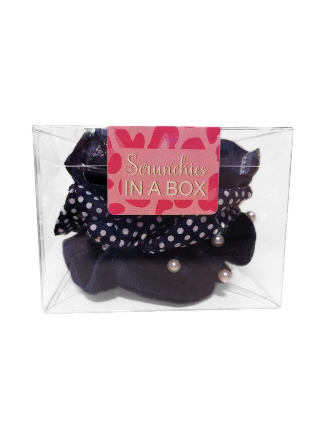 Scrunchie in a BOX -blauw