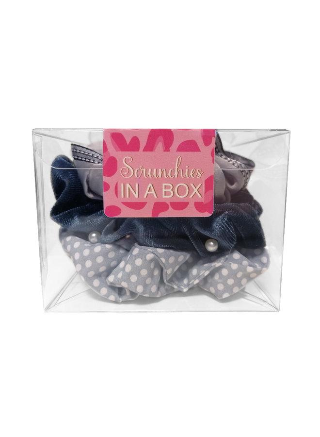 Scrunchie in einem BOX-Grau