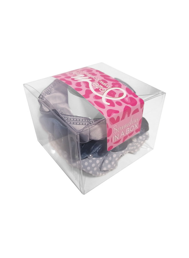 Jozemiek Scrunchie set gray in gift box