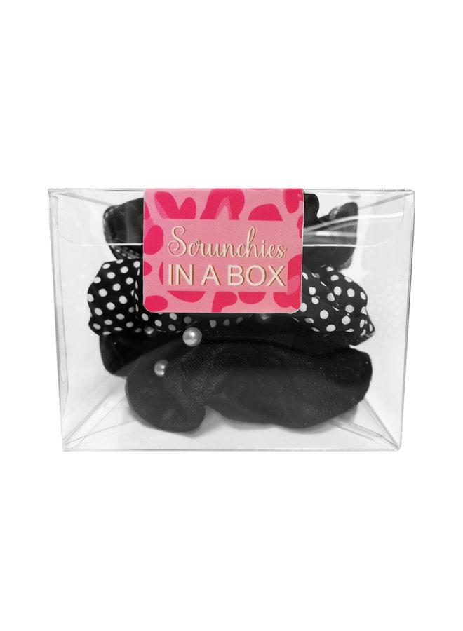 Scrunchie in a BOX -black