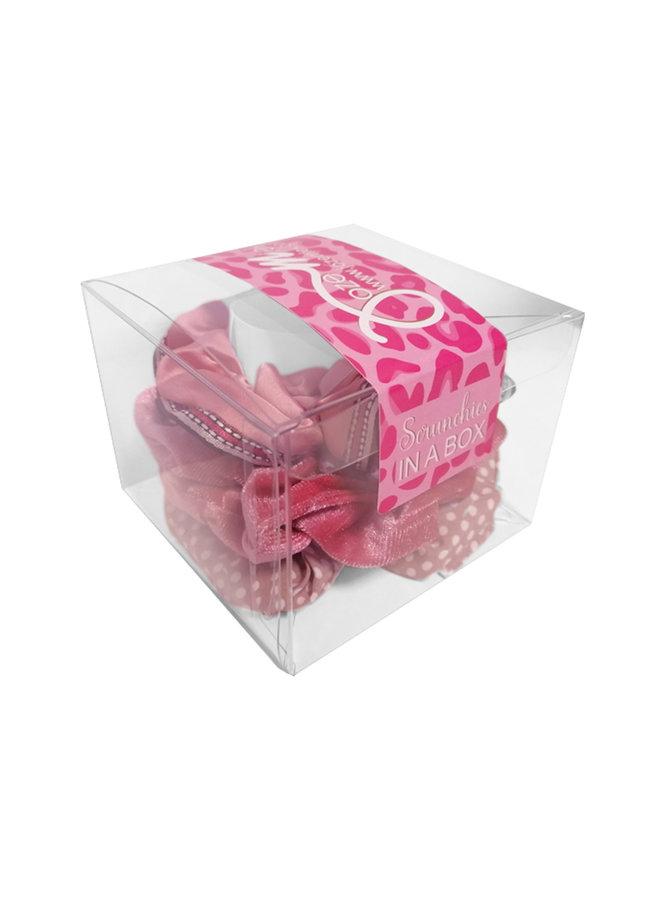 Jozemiek Scrunchie set pink in gift box