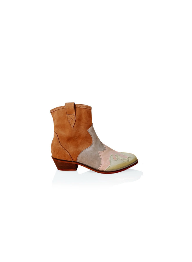 Ankle boots LUCCA - Western ankle boots -cognac / champagne