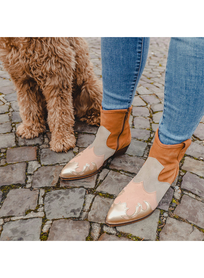 Stiefelette LUCCA - Cognac / Champagner