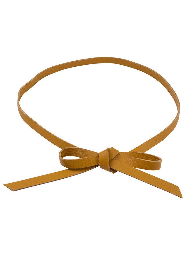 Jozemiek Leather knot belt - ocher