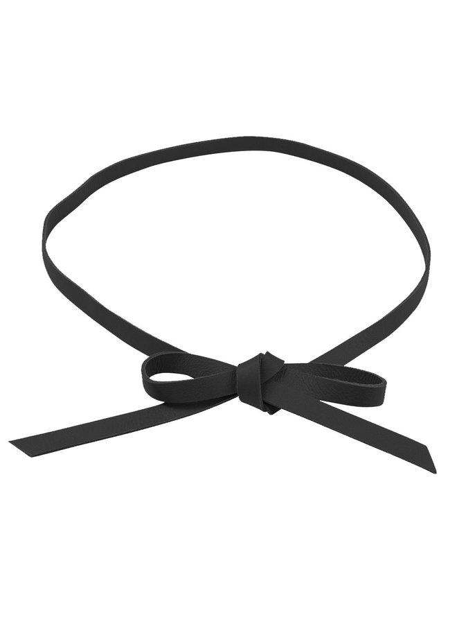 Jozemiek Lederknopfgürtel - schwarz