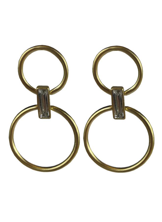 Jozemiek statement oorbel grote ovalen - goud of zilver