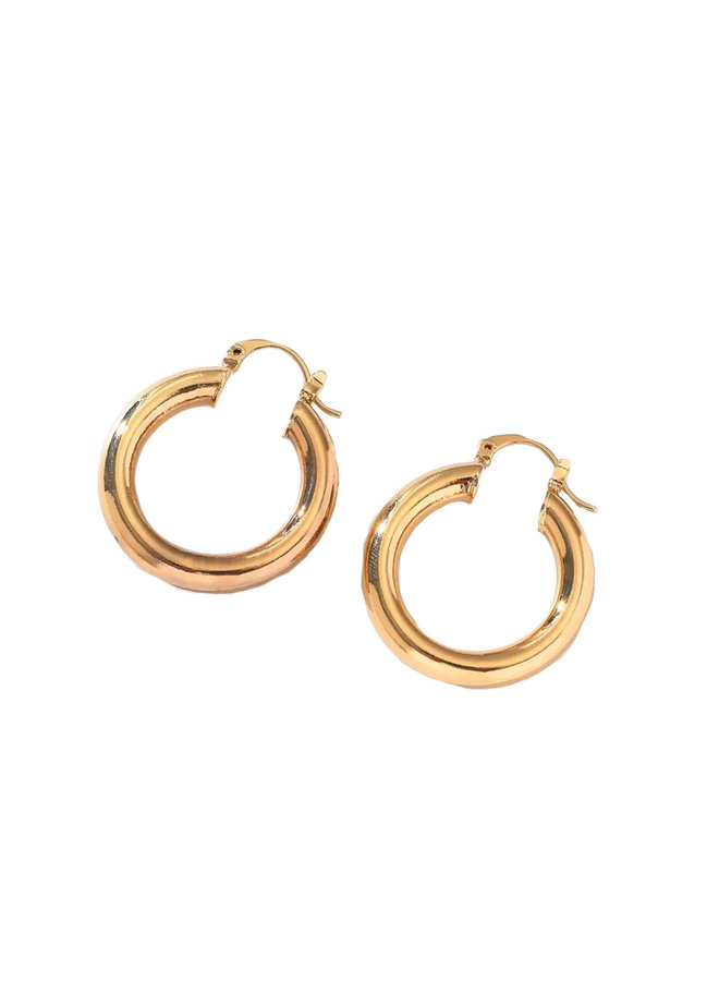 Earring smooth round