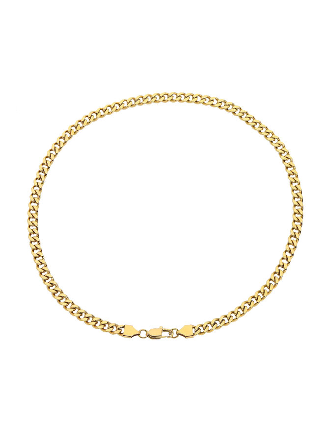 Cuban chain necklace -18k gold