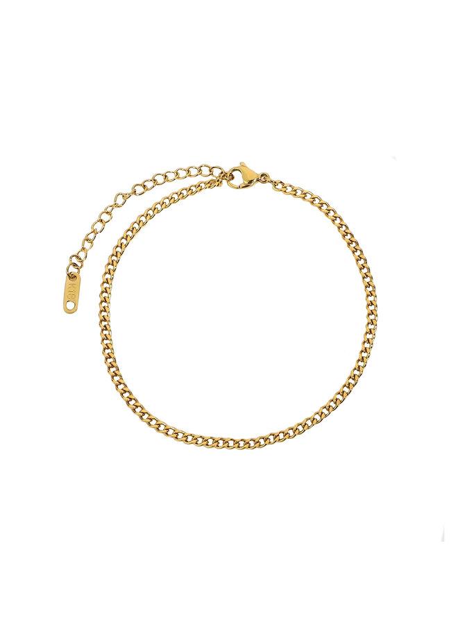 Fine vintage link bracelet - gold