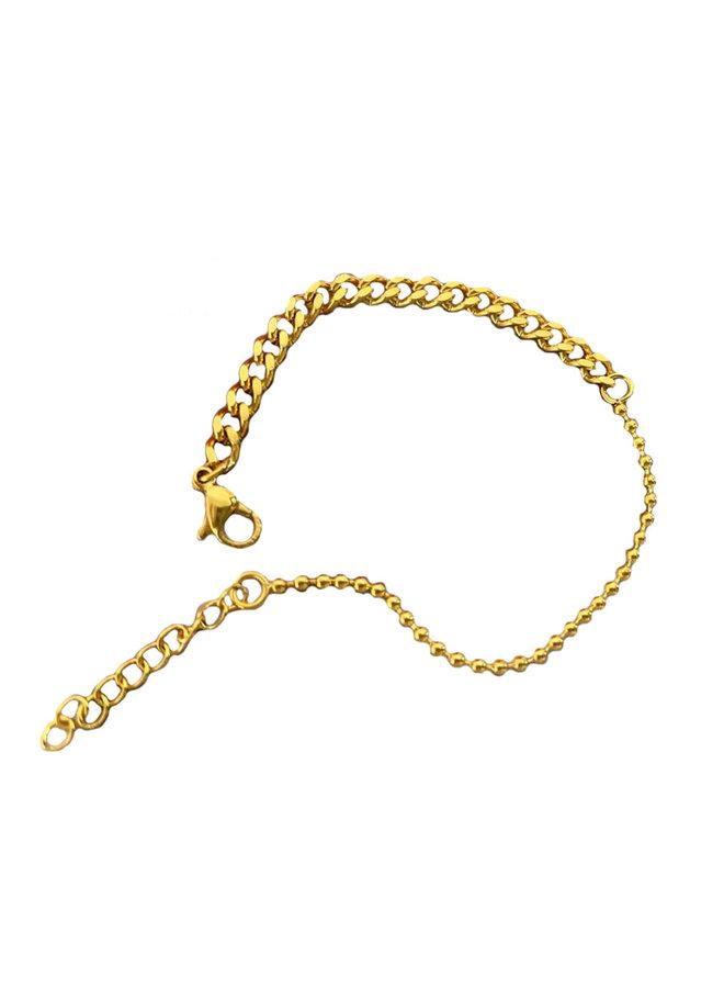 Cuban chain bracelet-gold