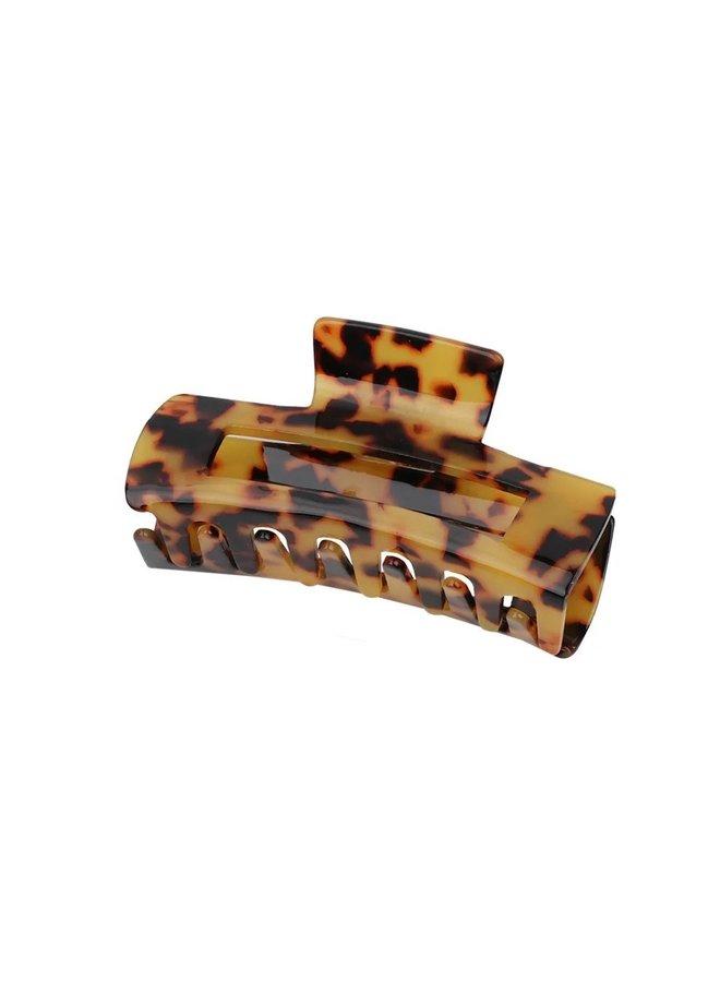 Jozemiek Rechteckige Haarspange Feenleopard - braun