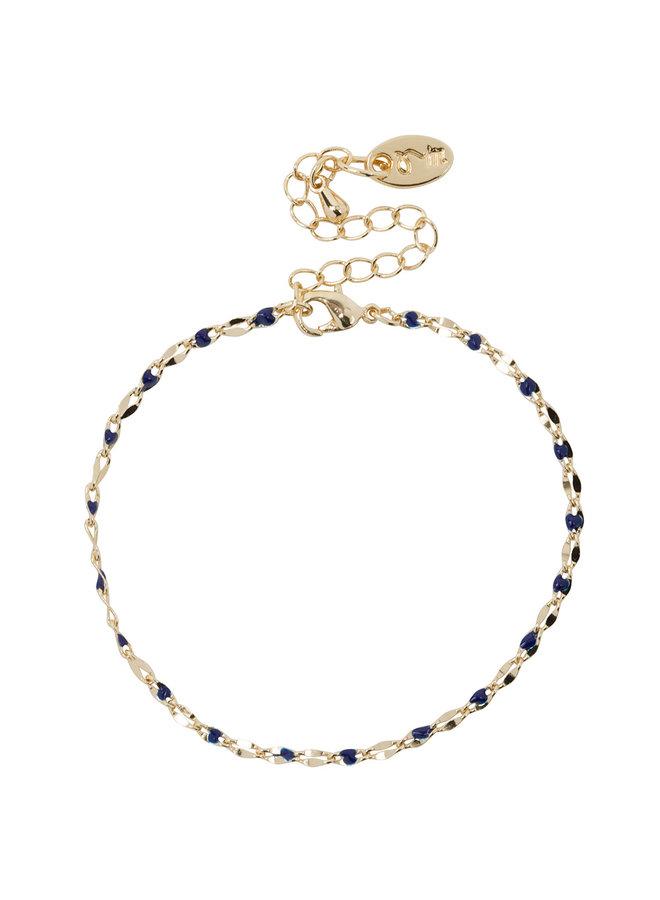 ONE DAY charity bracelet blauw witgoud of 14K geelgoud