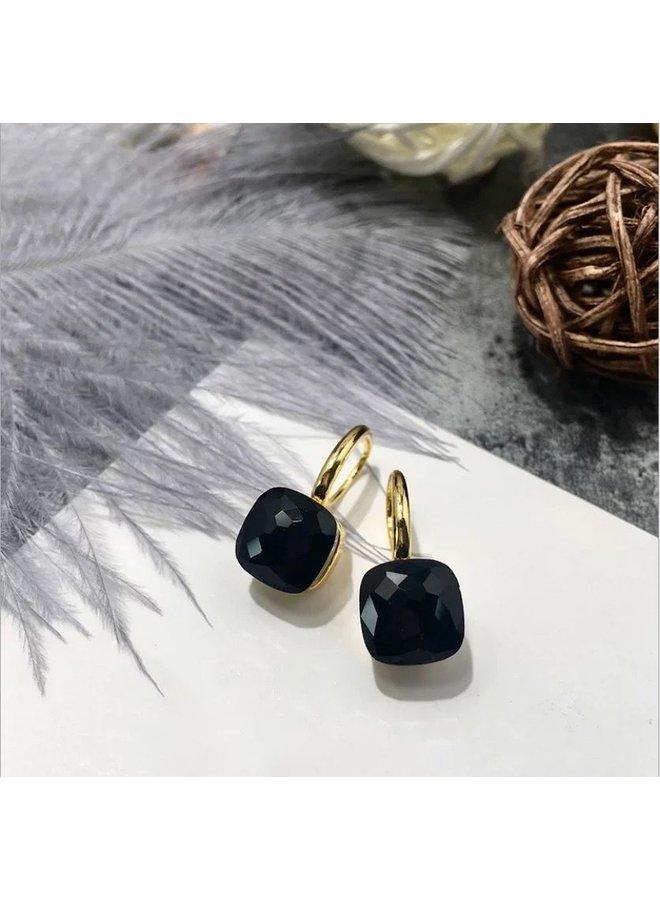 Stone Earring- black