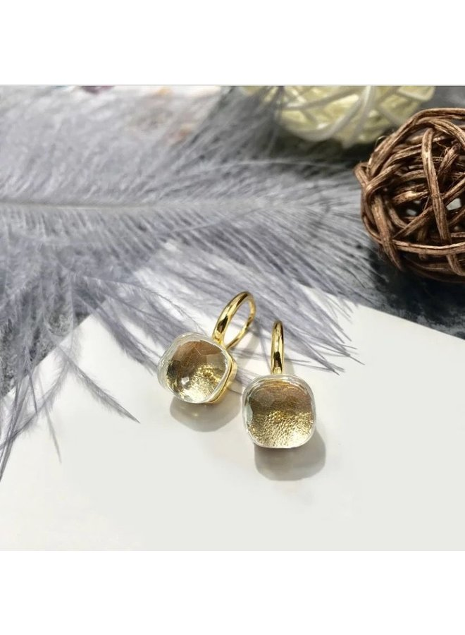 Stone Earring- transparent