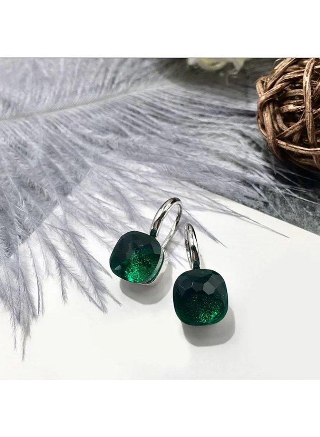 Jozemiek Stone Earring- dark green