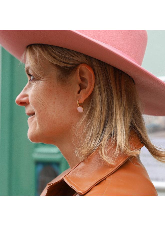 Jozemiek Stone Earring- soft pink