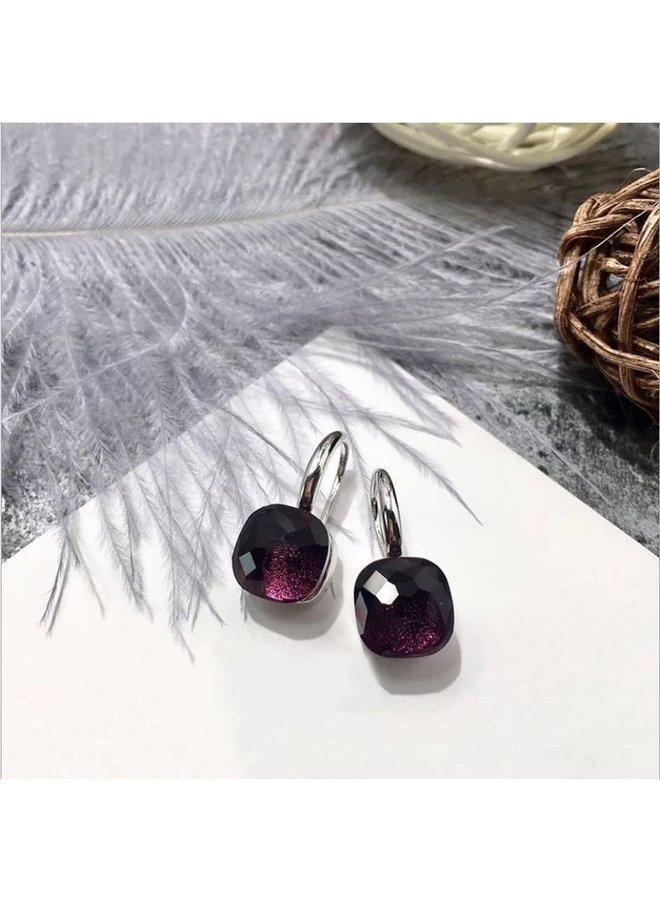 Jozemiek Stone Earring- bordeaux