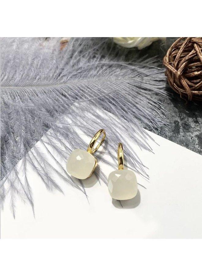 Stone Earring- wit