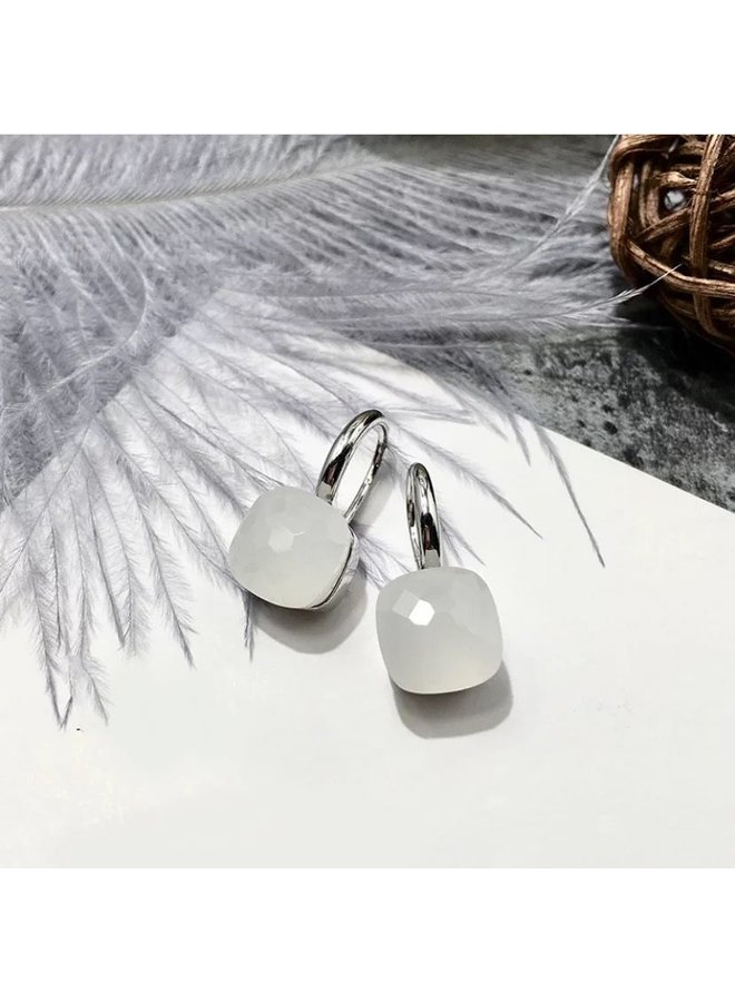 Jozemiek Stone Earring-wit