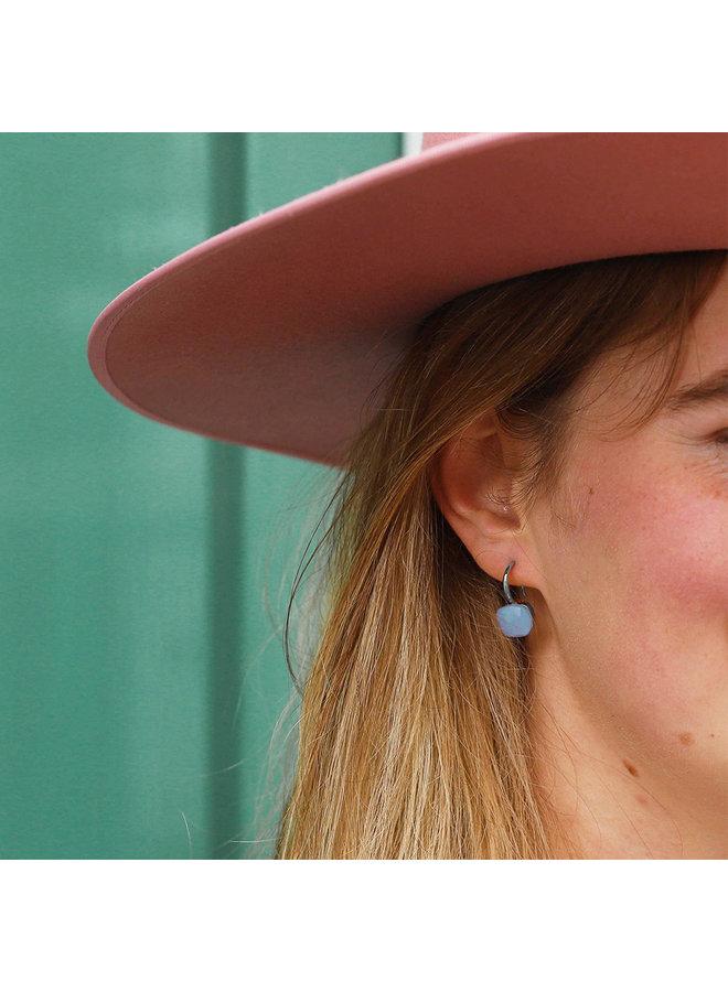 Jozemiek Stone Earring- light blue