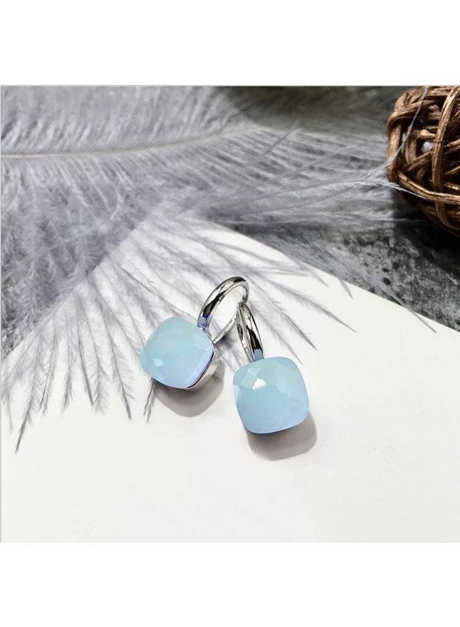 Stone Earring- light blue