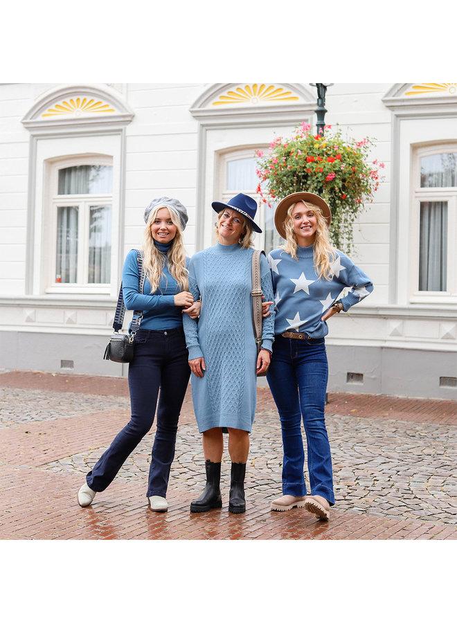 Jozemiek Flared Jeans Inge - Blau