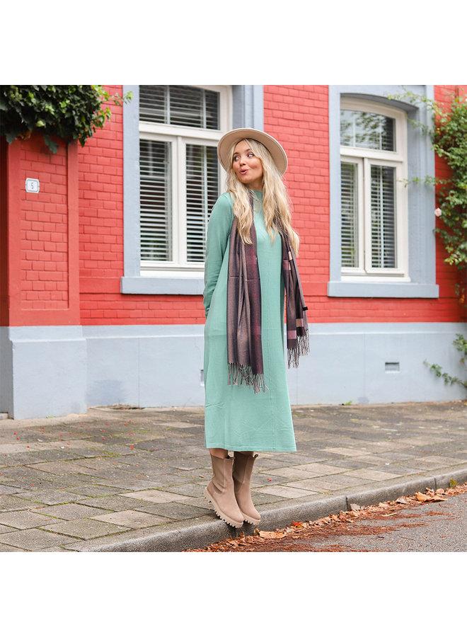 Jozemiek Dubbelzijdige sjaal met ruit - Zwart