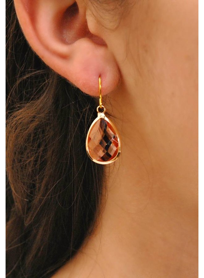 Dare to be fabulous earring teardrop Copper