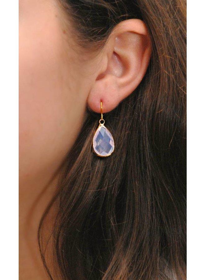Dare to be Fabulous earring Teardrop Crystal gold
