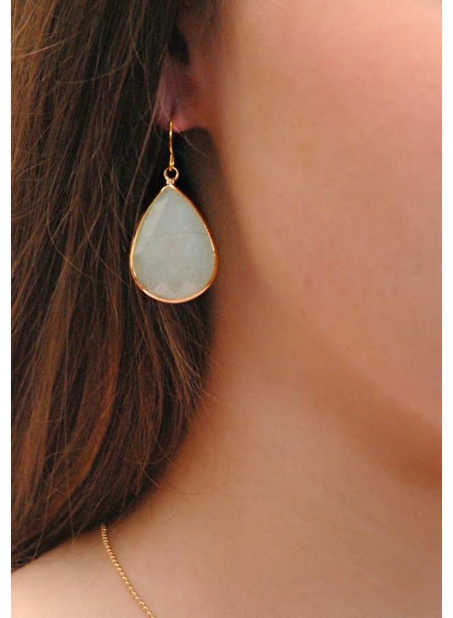 Dare to be fabulous earring teardrop XL Ice Blue