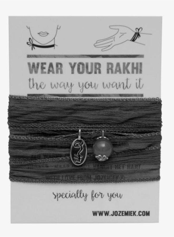 Rakhi- Choker -Wikkelarmband Sepia