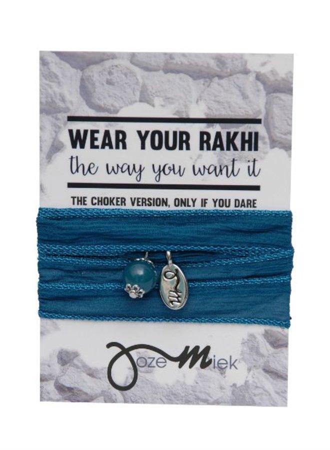 Rakhi- Choker -Wrapbracelet Yale Blue