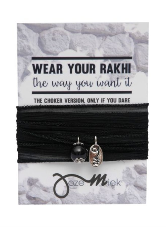 Rakhi- Choker -Wikkelarmband Black