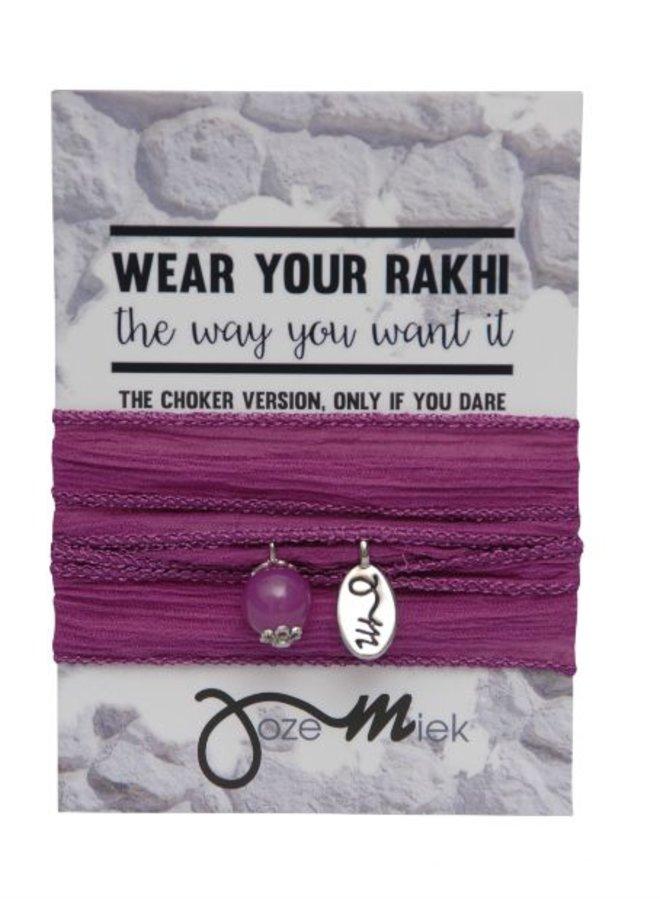 Rakhi- Choker -Wikkelarmband Raspberry