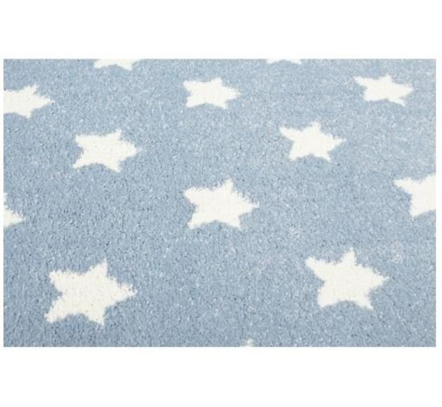 Kindertapijt blauw met sterren