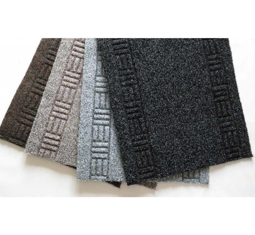 tapis de couloir gris sur mesure 66cm largeur. Black Bedroom Furniture Sets. Home Design Ideas