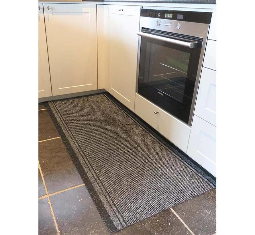 Tapis de cuisine gris sur mesure, 66 cm largeur