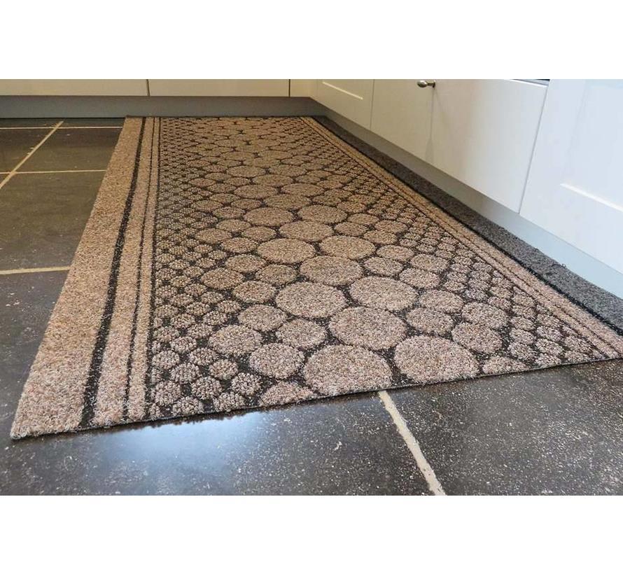 Tapis de cuisine sur mesure brun, 67 cm largeur