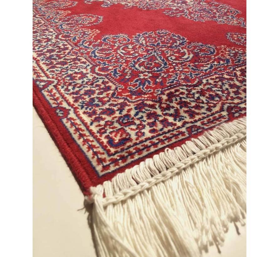 Klassiek tapijt rood/wit