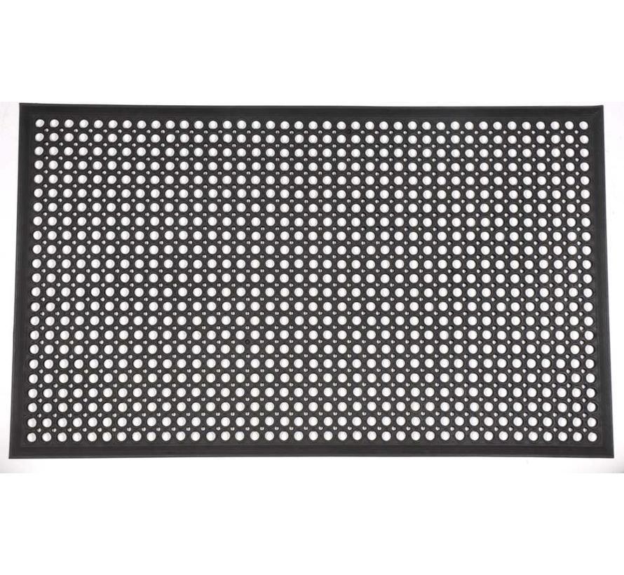 Rubberen deurmat zwart
