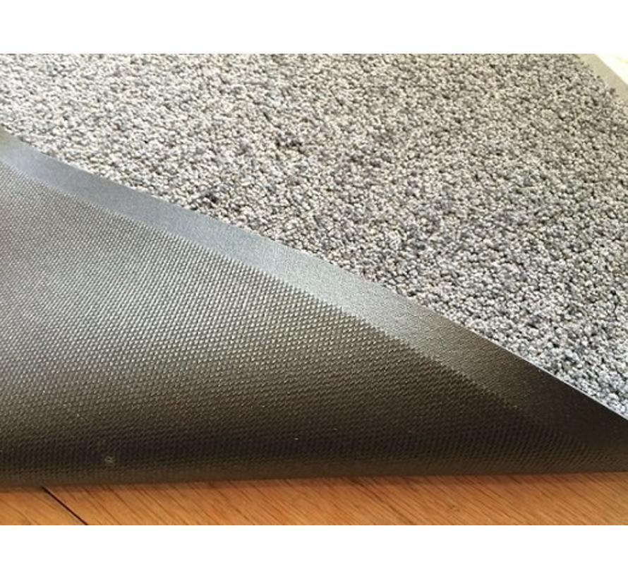 Tapis d'entrée absorbant et écologique gris